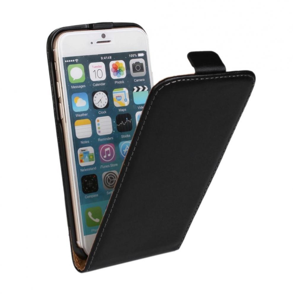 apple iphone 6 plus 6s plus etui clapet slim noir phonit univertel. Black Bedroom Furniture Sets. Home Design Ideas