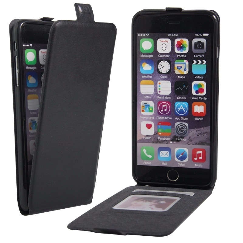 apple iphone 7 plus etui clapet slim noir airflip2 phonit univertel. Black Bedroom Furniture Sets. Home Design Ideas