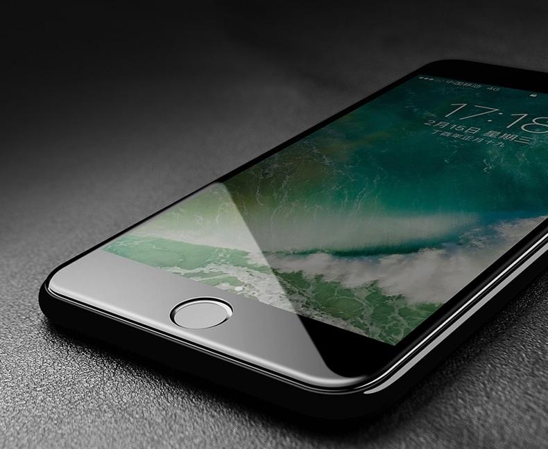 apple iphone 8 plus protection cran int grale en verre tremp noir airglass 4d phonit. Black Bedroom Furniture Sets. Home Design Ideas