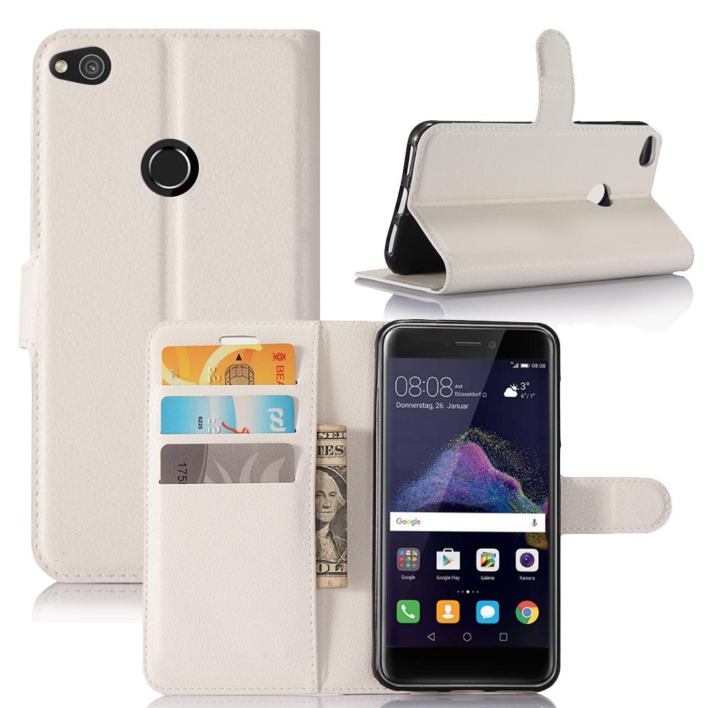Huawei p8 lite 2017 etui folio clapet blanc for Housse huawei p8 lite 2017