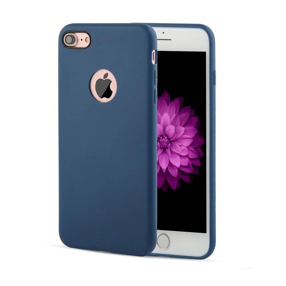apple iphone 7 coque arri re souple bleu airsoft luxe phonit univertel. Black Bedroom Furniture Sets. Home Design Ideas