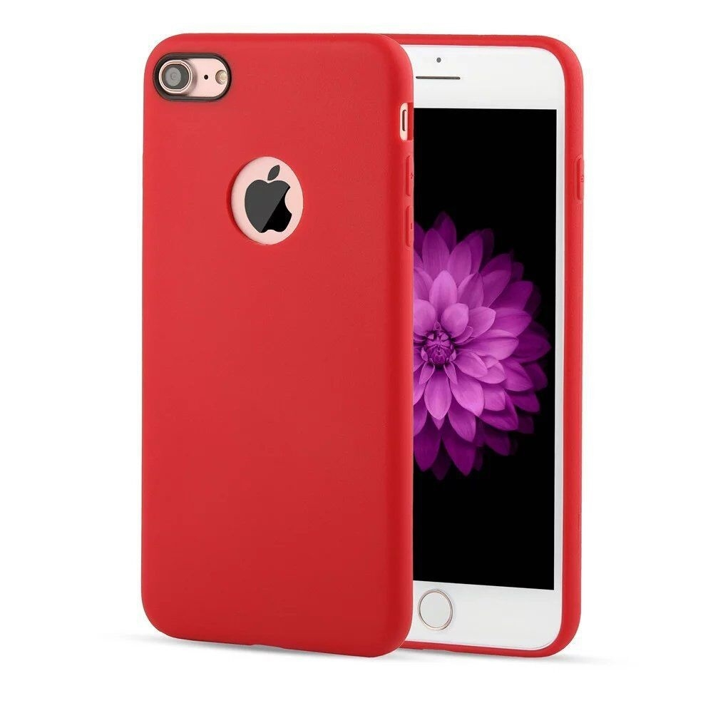 apple iphone 7 coque arri re souple rouge airsoft luxe phonit univertel. Black Bedroom Furniture Sets. Home Design Ideas