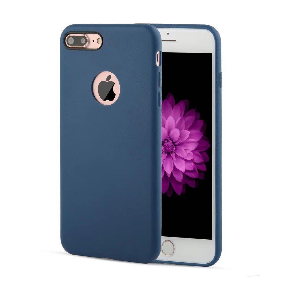 apple iphone 7 plus coque arri re souple bleu airsoft luxe phonit univertel. Black Bedroom Furniture Sets. Home Design Ideas