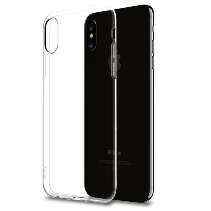 Apple iphone x housse silicone souple transparent for Housse iphone x